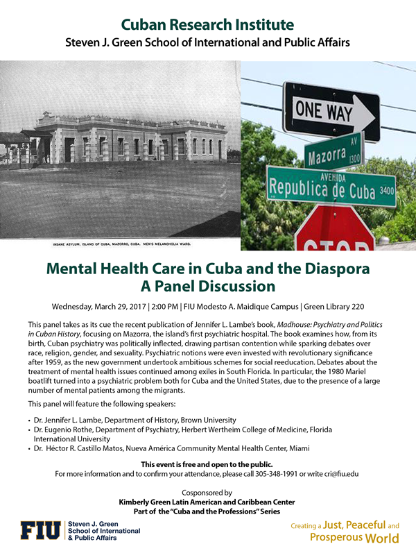 Mental Health Care In Cuba And The Diaspora Kimberly Green Latin