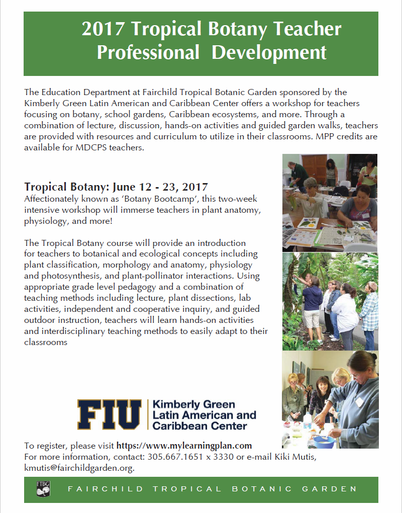 Tropical Botany Summer Institute for Teachers | Kimberly Green Latin ...
